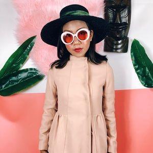 Miu Miu Empire Waist 60s Style Babydoll Coat XS